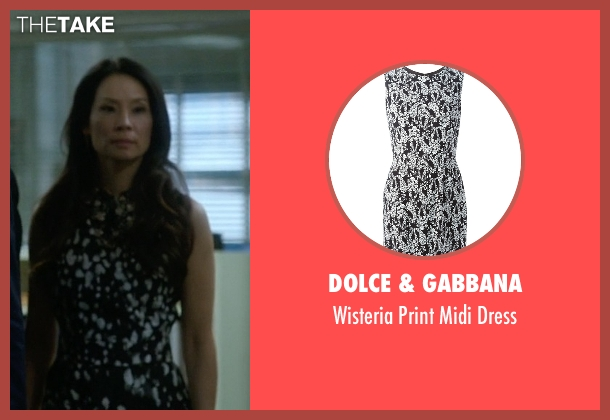 Dolce & Gabbana black dress from Elementary seen with Dr. Joan Watson (Lucy Liu)