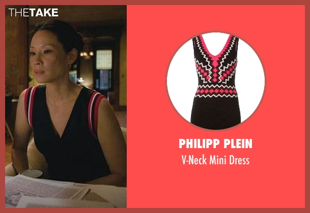 Philipp Plein black dress from Elementary seen with Dr. Joan Watson (Lucy Liu)