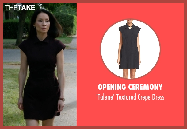Opening Ceremony black dress from Elementary seen with Dr. Joan Watson (Lucy Liu)