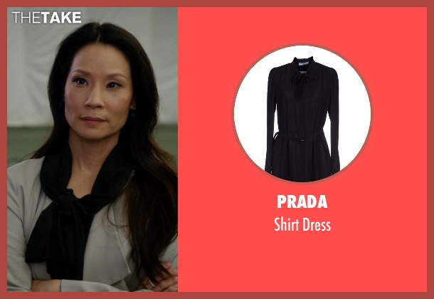 Prada black dress from Elementary seen with Dr. Joan Watson (Lucy Liu)