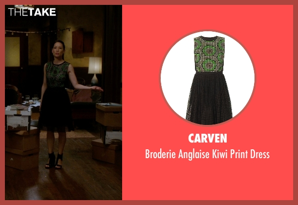 Carven black dress from Elementary seen with Dr. Joan Watson (Lucy Liu)