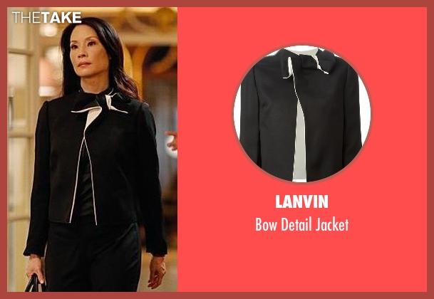 Lanvin black jacket from Elementary seen with Dr. Joan Watson (Lucy Liu)