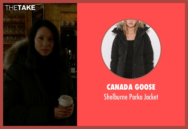 Canada Goose black jacket from Elementary seen with Dr. Joan Watson (Lucy Liu)