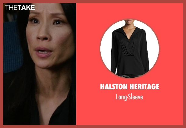 Halston Heritage black long-sleeve from Elementary seen with Dr. Joan Watson (Lucy Liu)