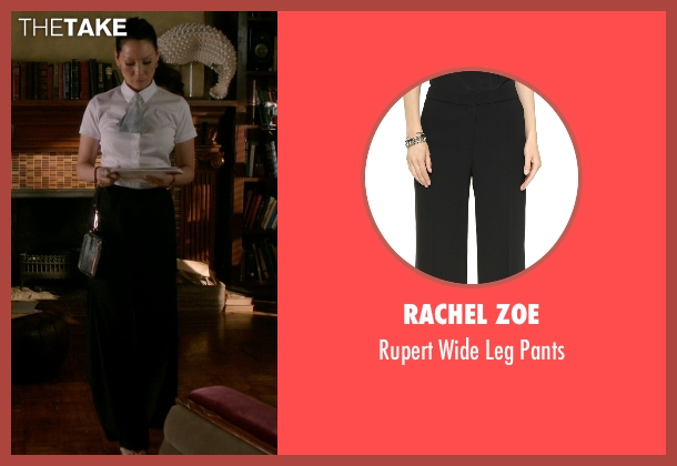 Rachel Zoe black pants from Elementary seen with Dr. Joan Watson (Lucy Liu)