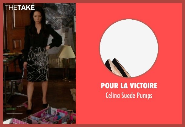 Pour La Victoire black pumps from Elementary seen with Dr. Joan Watson (Lucy Liu)