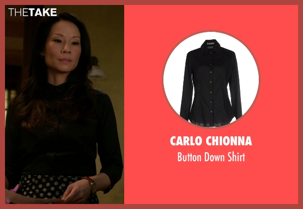 Carlo Chionna black shirt from Elementary seen with Dr. Joan Watson (Lucy Liu)