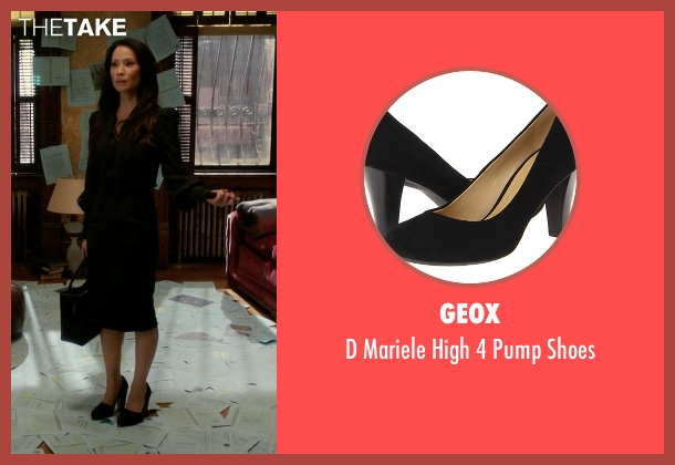 Geox black shoes from Elementary seen with Dr. Joan Watson (Lucy Liu)