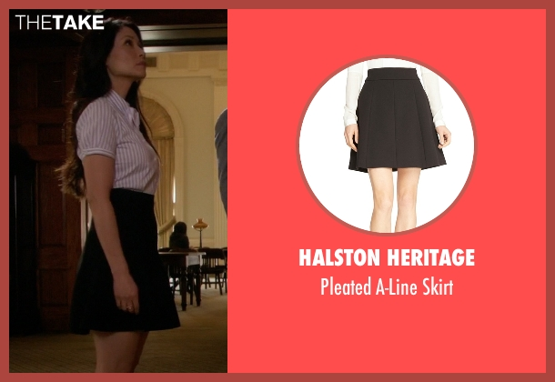 Halston Heritage black skirt from Elementary seen with Dr. Joan Watson (Lucy Liu)
