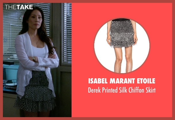 Isabel Marant Etoile black skirt from Elementary seen with Dr. Joan Watson (Lucy Liu)