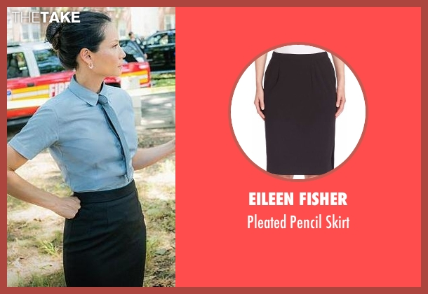 Eileen Fisher black skirt from Elementary seen with Dr. Joan Watson (Lucy Liu)