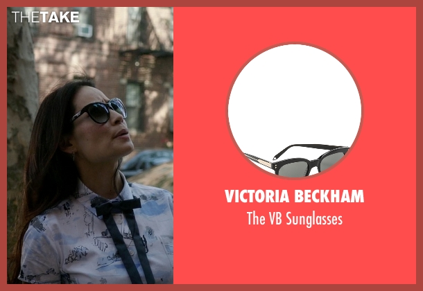 Victoria Beckham black sunglasses from Elementary seen with Dr. Joan Watson (Lucy Liu)