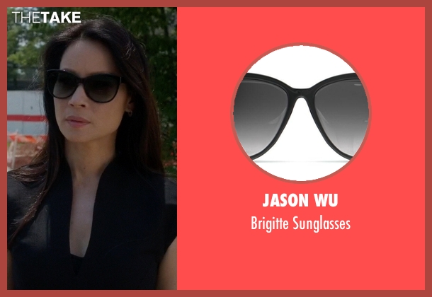 Jason Wu black sunglasses from Elementary seen with Dr. Joan Watson (Lucy Liu)