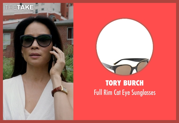 Tory Burch black sunglasses from Elementary seen with Dr. Joan Watson (Lucy Liu)