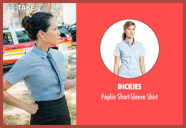 Dickies blue shirt from Elementary seen with Dr. Joan Watson (Lucy Liu)