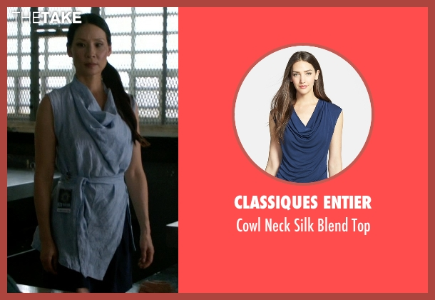 Classiques Entier blue top from Elementary seen with Dr. Joan Watson (Lucy Liu)