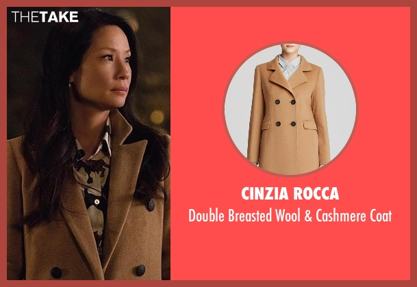 Cinzia Rocca brown coat from Elementary seen with Dr. Joan Watson (Lucy Liu)