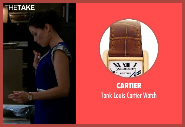Cartier brown watch from Elementary seen with Dr. Joan Watson (Lucy Liu)