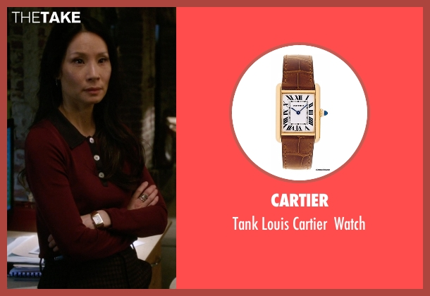 Cartier gold watch from Elementary seen with Dr. Joan Watson (Lucy Liu)