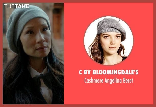 C by Bloomingdale's gray beret from Elementary seen with Dr. Joan Watson (Lucy Liu)