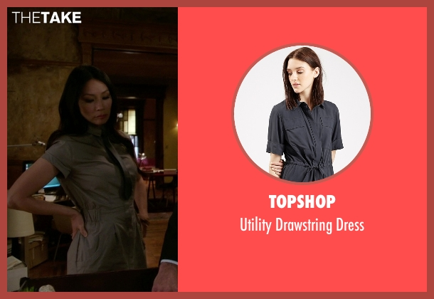 Topshop gray dress from Elementary seen with Dr. Joan Watson (Lucy Liu)