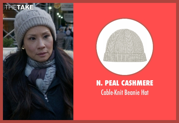 N. Peal Cashmere gray hat from Elementary seen with Dr. Joan Watson (Lucy Liu)