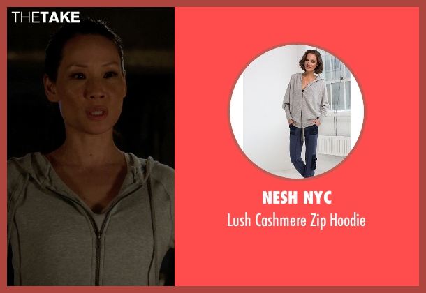Nesh NYC gray hoodie from Elementary seen with Dr. Joan Watson (Lucy Liu)