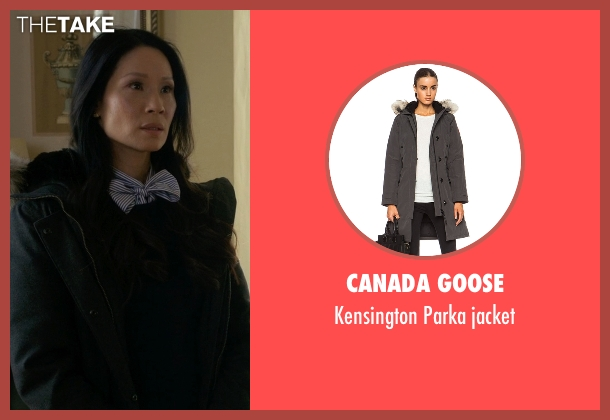 Canada Goose gray jacket from Elementary seen with Dr. Joan Watson (Lucy Liu)