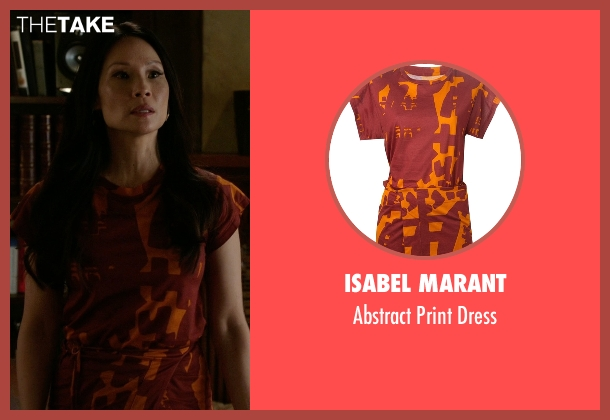 Isabel Marant red dress from Elementary seen with Dr. Joan Watson (Lucy Liu)