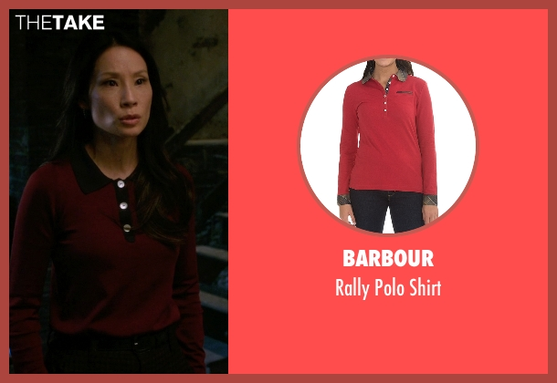 Barbour red shirt from Elementary seen with Dr. Joan Watson (Lucy Liu)