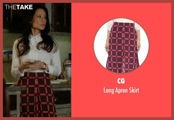 CG red skirt from Elementary seen with Dr. Joan Watson (Lucy Liu)