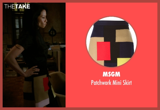 MSGM skirt from Elementary seen with Dr. Joan Watson (Lucy Liu)