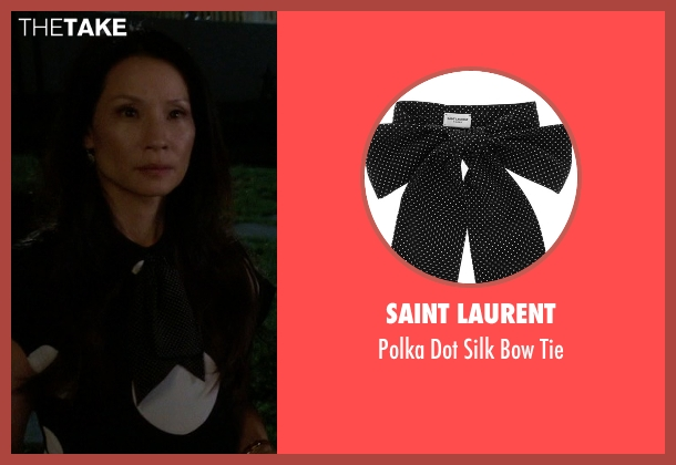 Saint Laurent tie from Elementary seen with Dr. Joan Watson (Lucy Liu)