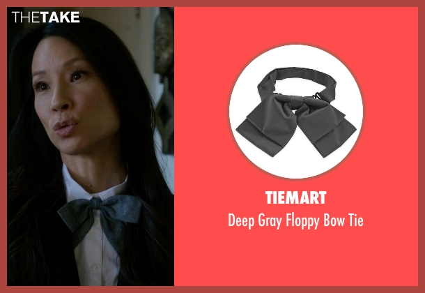 Tiemart tie from Elementary seen with Dr. Joan Watson (Lucy Liu)