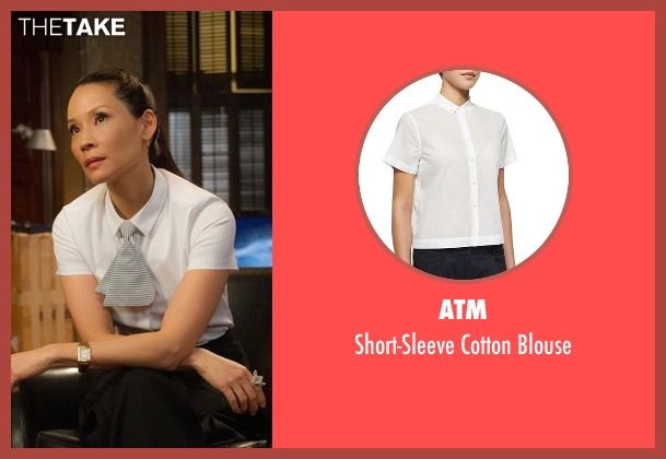 ATM white blouse from Elementary seen with Dr. Joan Watson (Lucy Liu)