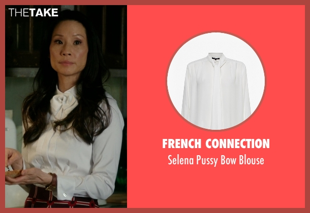 French Connection white blouse from Elementary seen with Dr. Joan Watson (Lucy Liu)