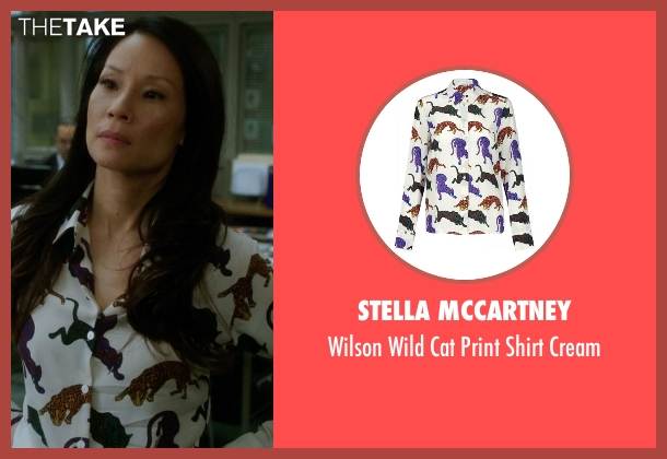 Stella McCartney white cream from Elementary seen with Dr. Joan Watson (Lucy Liu)