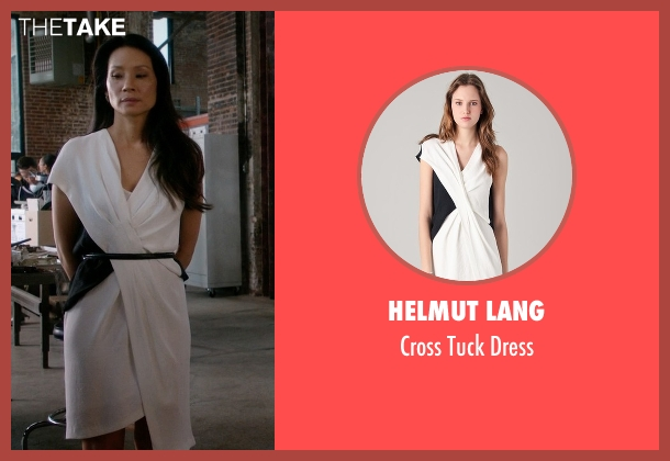Helmut Lang white dress from Elementary seen with Dr. Joan Watson (Lucy Liu)