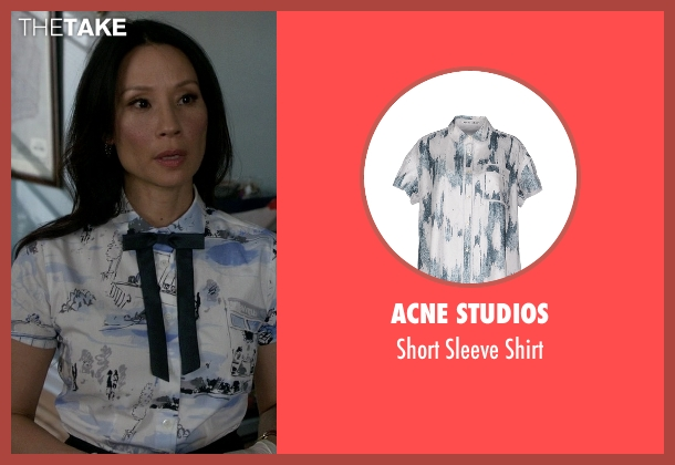 Acne Studios white shirt from Elementary seen with Dr. Joan Watson (Lucy Liu)
