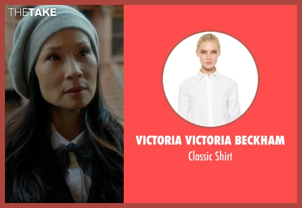 Victoria Victoria Beckham white shirt from Elementary seen with Dr. Joan Watson (Lucy Liu)