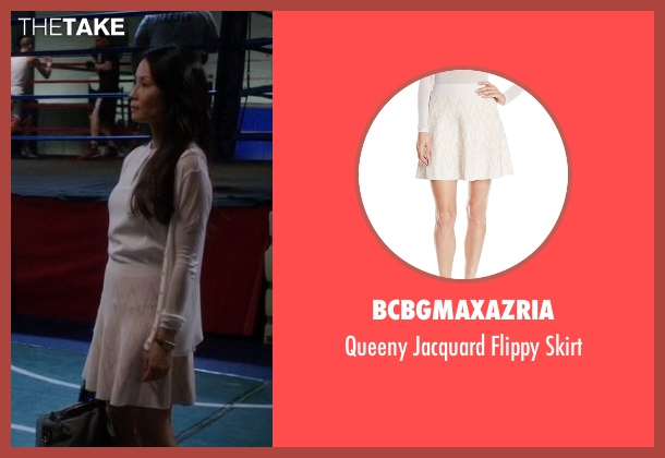 BCBGmaxazria white skirt from Elementary seen with Dr. Joan Watson (Lucy Liu)