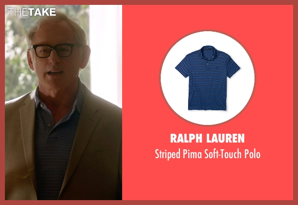 Ralph Lauren blue polo from The Flash seen with Dr. Martin Stein (Victor Garber)