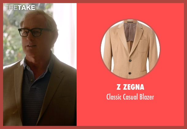 Z Zegna brown blazer from The Flash seen with Dr. Martin Stein (Victor Garber)