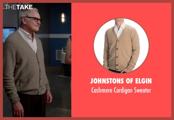 Johnstons Of Elgin brown sweater from The Flash seen with Dr. Martin Stein (Victor Garber)
