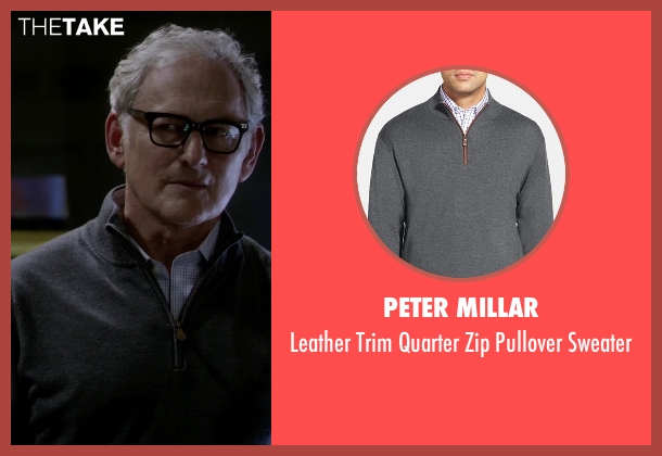 Peter Millar gray sweater from The Flash seen with Dr. Martin Stein (Victor Garber)