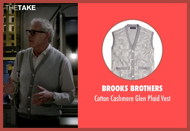 Brooks Brothers gray vest from The Flash seen with Dr. Martin Stein (Victor Garber)