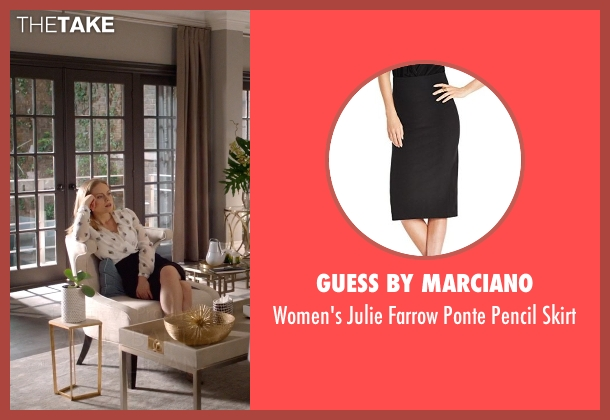 Guess by Marciano black skirt from Suits seen with Dr. Paula Agard (Christina Cole)