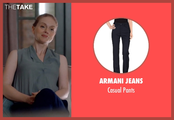 Armani Jeans blue pants from Suits seen with Dr. Paula Agard (Christina Cole)