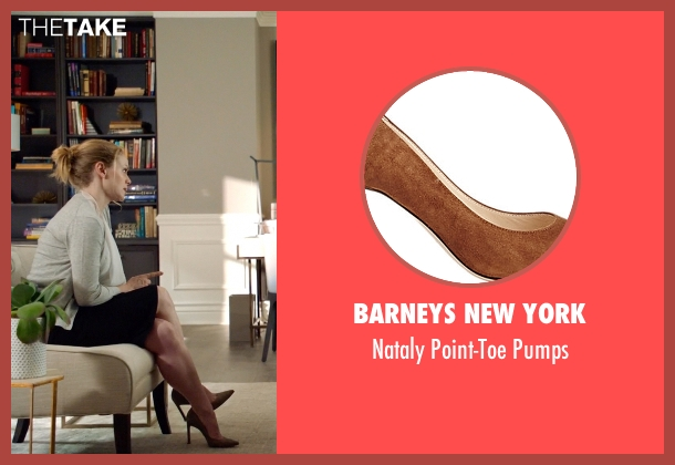Barneys New York brown pumps from Suits seen with Dr. Paula Agard (Christina Cole)