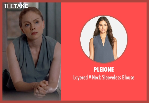 Pleione gray blouse from Suits seen with Dr. Paula Agard (Christina Cole)